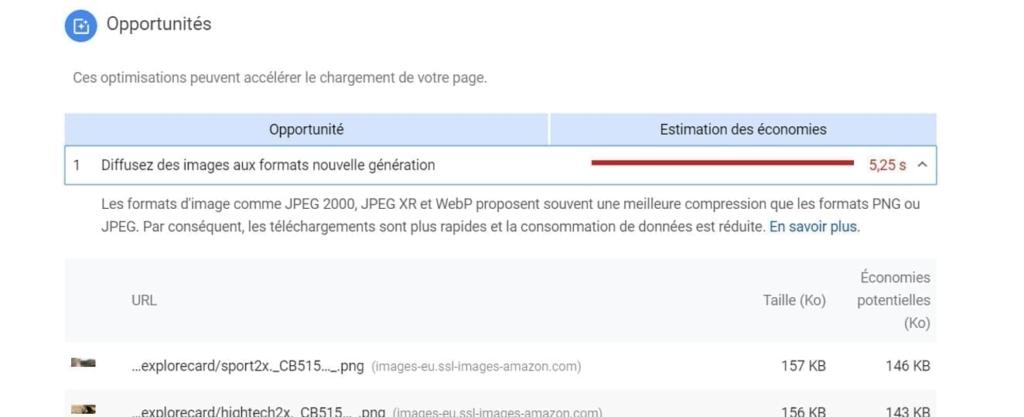 De opportuniteiten voor optimalisatie die PageSpeed Insights aanreikt